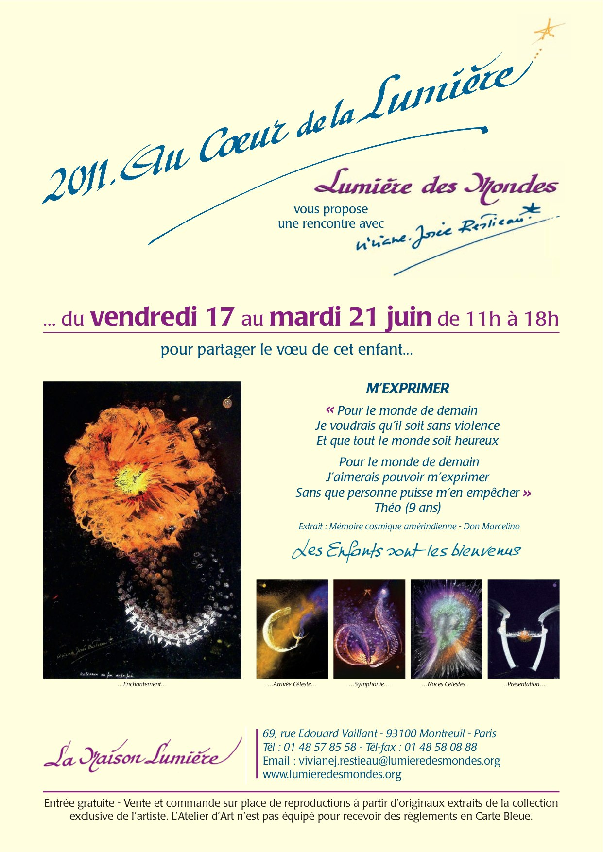 Invitation Viviane-Josée Restieau - Expo juin 2011