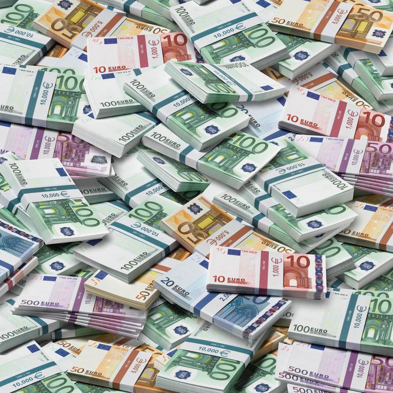 Piles d'euros
