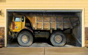 Garage avec camion