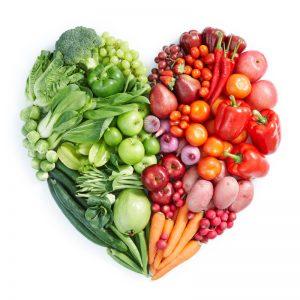 Fruits et légumes cœur